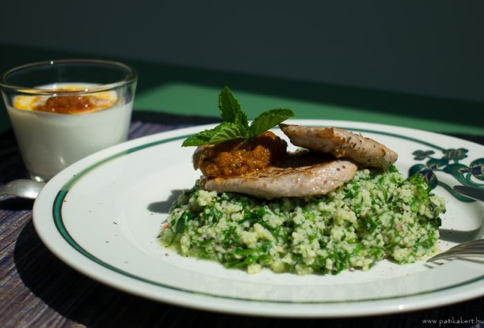 15 perces egészséges vacsora, némi arab beütéssel